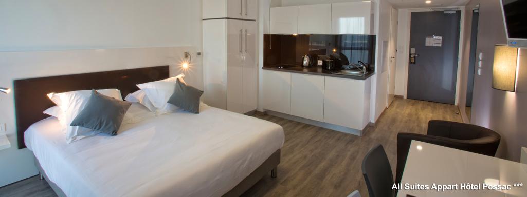 All suites appart h tel bordeaux pessac for Appartement bordeaux pessac