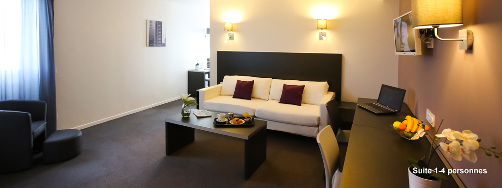 All suites appart h tel orly rungis for Appart hotel 4 personnes